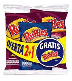 Ruffles Patatas fritas ruffles jamon Pack de 2x170 g