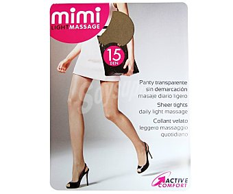 MIMI Light massage Panty 15 Den transparente color skin, talla S