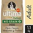 Pienso de , verduras y frutas para perro adulto Ultima Nature No Grain Mini 1,1 Kg 1,10 kg Pavo fresco