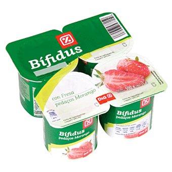 DIA Yogur bífidus con fresas Pack 4 unidades 125 g