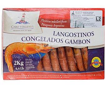 Cabo Vírgenes Langostinos (gambón) 20 / 30 crudos y ultracongelados vírgenes 2 kg