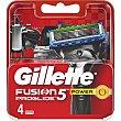 5 power recambio de maquinilla de afeitar Flexball Estuche 4 unidades Gillette Fusion Proglide