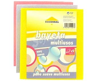 Rozenbal Bayetas multiusos colores 36x40cm 9 Unidades