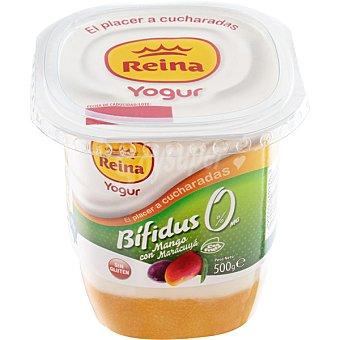 Reina Yogur desnatado bifidus con mango y maracuyá Envase 500 g