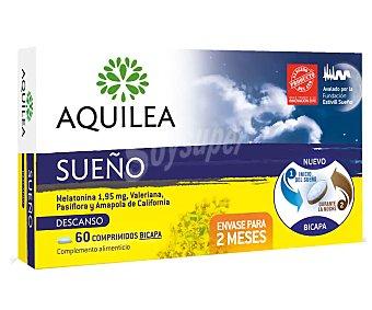 Aquilea Sueño comprimidos bicapa con accion relajante caja 60 comprimidos con melatoninavaleriana pasiflora y amapola de California Caja 60 comprimidos