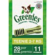 Snacks dentales para perros entre 2-7 kg Envase 11 unidades Greenies
