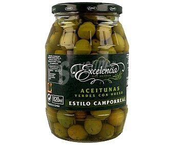 Excelencia Aceitunas verdes con hueso al estilo Camporreal, 500 gramos