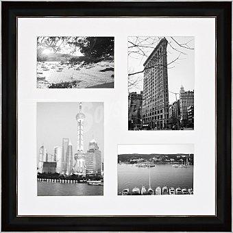 HERGON Marco múltiple para 4 fotos en color negro y plata