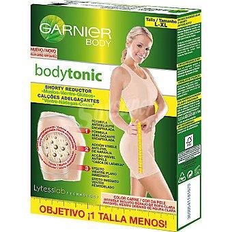 GARNIER Bodytonic shorty reductor de muslos vientre y gluteos talla L-XL caja 1 unidad