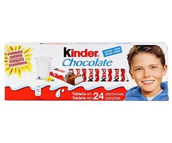 Kinder Porciones de chocolate con leche relleno de crema rica en leche 24 unidades (300 g)
