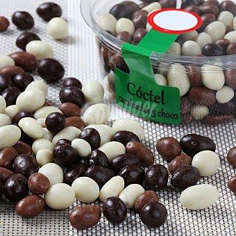 Carrefour Coctel cacahuetes 3 chocolates Bolsa de 200 g