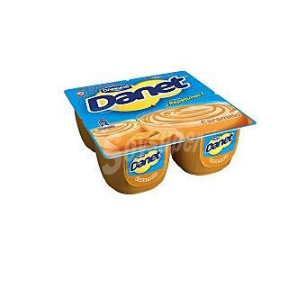DANET de DANONE Natillas con sabor a caramelo 4 unidades de 115 gramos
