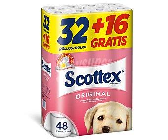 Scottex Papel higiénico Paquete 32+16 rollos