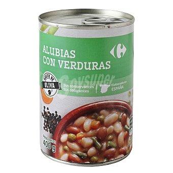 Carrefour Alubias con verduras con aceite de oliva 400 g