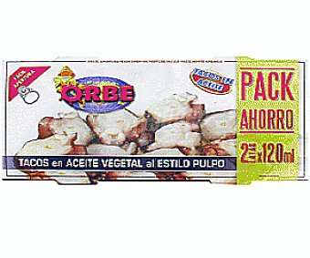 Orbe Bipack de Calamares en Tacos con Aceite Vegetal 114 Gramos