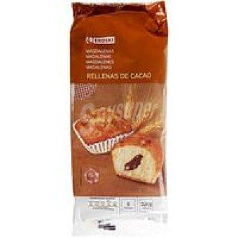 Eroski Magdalenas rellenas de cacao Bolsa de 300 g