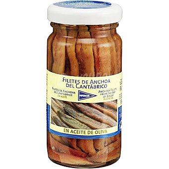 Hipercor Filetes de anchoa del Cantábrico en aceite de oliva Frasco 55 g neto escurrido