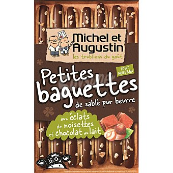 MICHEL ET AUGUS Petits Baguettes Galletas con chocolate con leche y avellanas petits baguettes estuche de 90 g