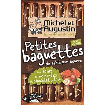 MICHEL ET AUGUS Galletas con chocolate con leche y avellanas petits baguettes estuche de 90 g