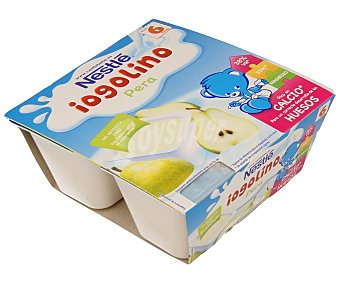Iogolino Nestlé Postre lácteo sabor pera 4 unidades de 100 g