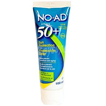 NO-AD Protección solar FP-50 ayuda a prevenir el envejecimiento prematuro de la piel resistente al agua y al sudor Bote 100 ml