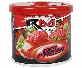 ROLMOVIL Ambientador en gel para coche, en envase de lata con dosificador y con olor a fresa 1 unidad
