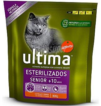 Ultima Affinity Comida para gatos esterilizados senior 800 g