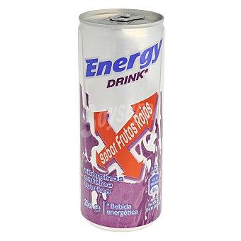 Carrefour Bebida energética con sabor frutos rojos 25 cl