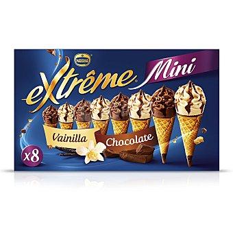 Extrême Nestlé Mini conos con helado de vainilla y chocolate Pack de 8 unidades de 80 ml
