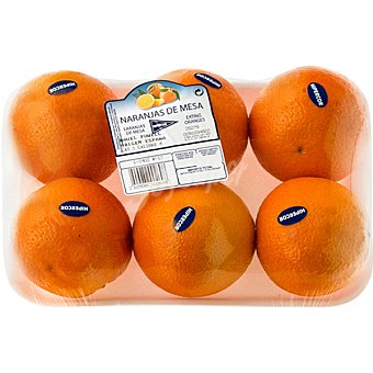 Hipercor Naranjas de mesa peso aproximado Bandeja 1,1 kg