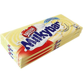 Milkybar Nestlé Chocolate blanco pack 3 x 75 g envase 225 g Pack 3 x 75 g