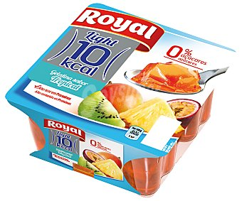 Royal Gelatina tropical 4 Unidades de 100 Gramos