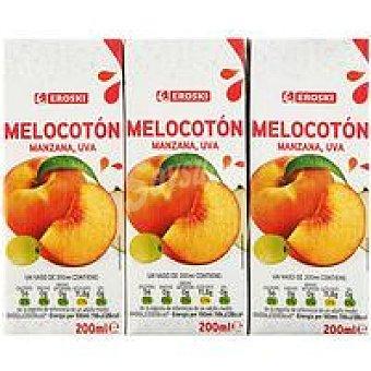 Eroski Melocotón Pack 3x200 ml