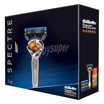 Gillette Pack afeitado fusion proglide flexball manual (maquinilla + 3 recambios + gel) 1 unidad