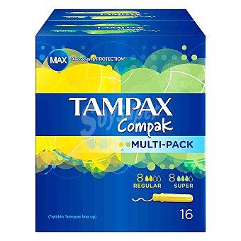 Tampax Compak tampones con aplicador multi-pack Caja 16 unidades