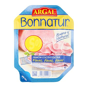 Bonnatur Argal Jamón cocido finas lonchas 80 g