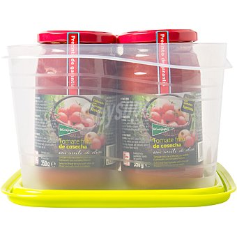 El Corte Inglés Tomate frito de cosecha con aceite de oliva Pack 4 frasco 350 g
