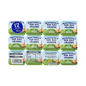 Hacendado Mantequilla porciones 12 x 12,5 g