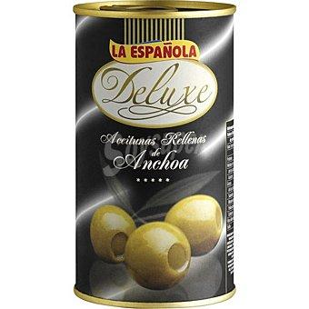La Española Deluxe aceitunas rellenas de anchoa Lata 150 g neto escurrido