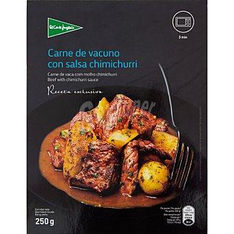 El Corte Inglés Carne de vacuno con salsa chimichurri receta exclusiva  bandeja 250 g