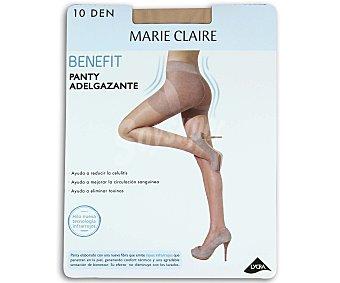 MARIE CLAIRE Benefit Panty fino 10 den, adelgazante,, color primavera, talla L