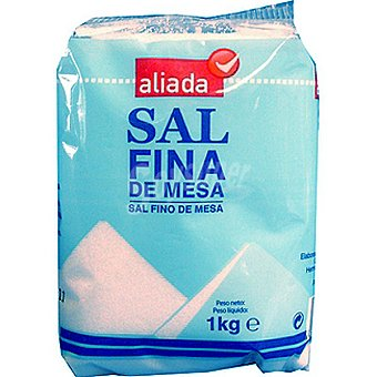 ALIADA sal fina de mesa  paquete 1 kg