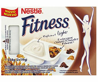 Fitness Nestlé Yogur fitness Mix con Cereales y Chocolate 2x119g
