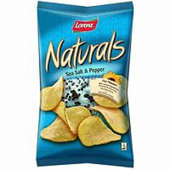 Lorenz Chips Naturals Sea salt&pepper Bolsa 110 g