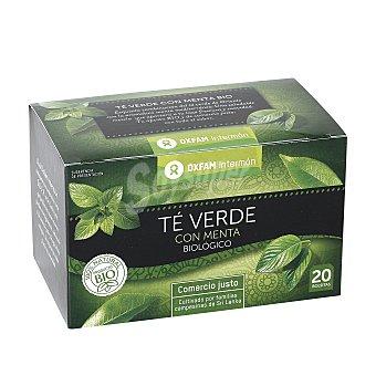 Intermón Oxfam Te verde con menta de agricultura ecológica Caja 36 g (20 bolsitas)