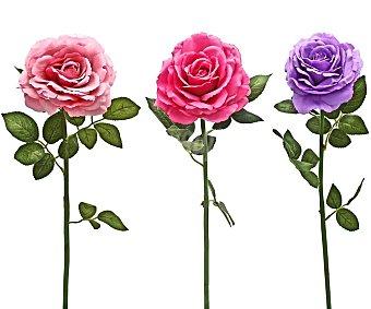 Essencial Vara de rosa artificial surtida en colores de 86 cm, para decoración del hogar, essencial