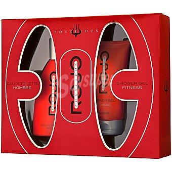 POSSEIDON Rojo eau de toilette masculina spray 150 ml + gel de baño... Spray 150 ml
