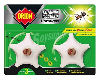 Orion gel cebo mata hormigas Caja 2 unidades