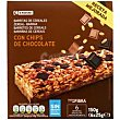 Barritas de cereales-chocolate Caja de 6x25g Eroski