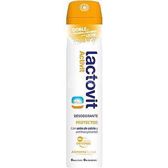 LACTOVIT Activit Desodorante protector con sales de calcio y antitranspirantes sin alcohol spray 200 ml con doble de vitaminas y proteínas de la leche Spray 200 ml